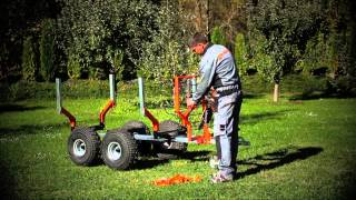 ATV-Work trailer, snow plow test by motosport.si