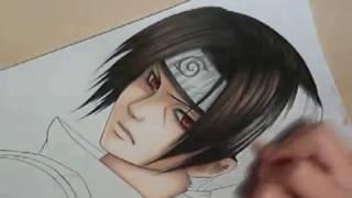 getlinkyoutube.com-Drawing of Uchiha Itachi
