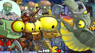 getlinkyoutube.com-Plants vs Zombies 2 It's About Time: Dark Ages Part 2 Zombot Dark Dragon, ALL 5 World Zomboss Battle