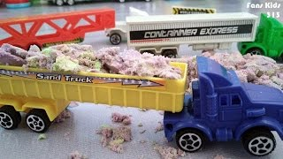 3 Toys Truck Container & Play Sand for kids I Mainan anak Truk Panjang