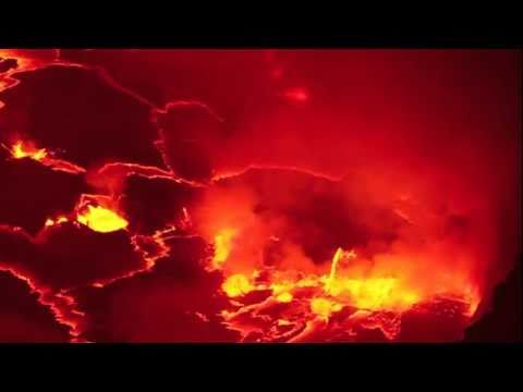 Virunga Volcano - The Most Active Lava Lake in the World