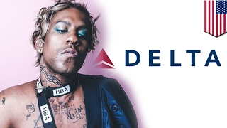 getlinkyoutube.com-Homophobia on Delta flight? Man 'uncomfortable' next to Mykki Blanco, calls the cops - TomoNews