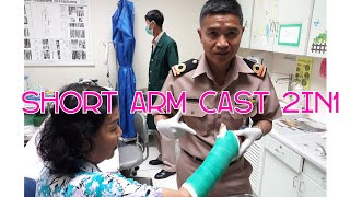 Short arm cast 2in1by