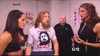 Stephanie, Brie Bella, & Daniel Bryan Backstage