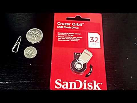 Sandisk CRUZER Orbit 8GB / 16GB / 32GB THUMB FLASH DRIVE USB2.0 UPC: 619659090500 SDCZ58-032G-B35