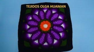 """getlinkyoutube.com-Flor grande en punto rococo de 12 pétalos"""" video 3"""