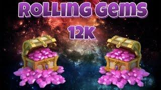getlinkyoutube.com-Castle Clash Rolling 12k Gems for Fazer123!