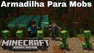 getlinkyoutube.com-Trap Armadilha Para Mobs - Minecraft PE v0.13.1