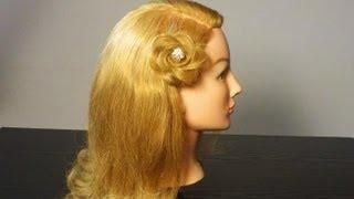getlinkyoutube.com-Прическа: Цветок из волос. Braided flower spring look hair tutorial