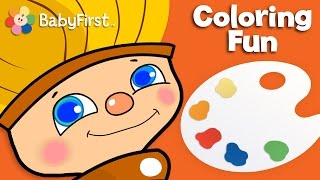 getlinkyoutube.com-Orange Delight | Color for Kids | Petey Paintbrush | BabyFirstTV