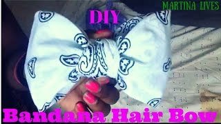 getlinkyoutube.com-DIY: Bandana Hair Bow ( No Sewing or Glue )