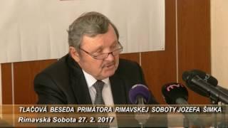 Tlacovka primátor RS Jozef Šimko 27 2 2017