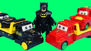 getlinkyoutube.com-Disney Pixar Cars Batcar McQueen & Robin Mater Rescue Batman From Imaginext Pirate Sea Dragon Island