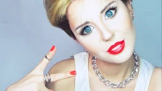 getlinkyoutube.com-Miley Cyrus make up tutorial by Anastasiya Shpagina