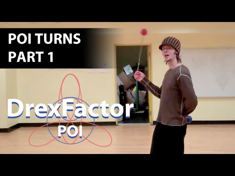 Basic Poi Dancing Tutorial: Turns part 1