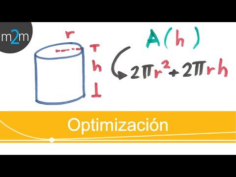 Expresar área del cilindro en función de su altura. Area of cylinder in terms of its height