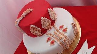 getlinkyoutube.com-طريقة تزيين كيك بعجينة السكر |  Cake design facile Tenue traditionnelle