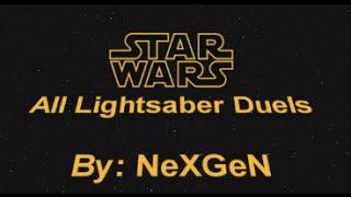 getlinkyoutube.com-Star Wars - All Lightsaber Duels 1080p by NexGen