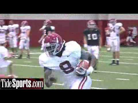 Alabama QB drills:  Spring Practice Day 3