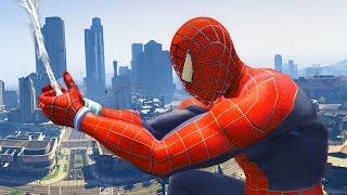 getlinkyoutube.com-GTA 5 Spiderman Mod - Người Nhện náo loạn trong game GTA 5