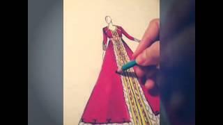 getlinkyoutube.com-Création dessin confection d'un caftan