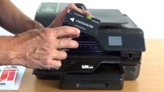 getlinkyoutube.com-Tinten-Patronenwechsel beim HP Officejet Pro 8600 / E / Plus