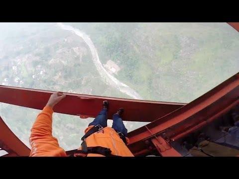 GoPro HD: Matthias Giraud - B.A.S.E. Jumping off the Balinghe Bridge in China