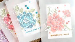 getlinkyoutube.com-Vellum Overlay Card + Altenew Ink Layering Combinations