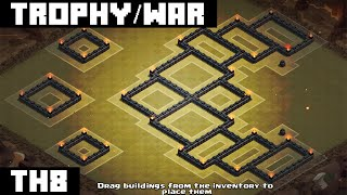 getlinkyoutube.com-Clash Of Clans: TH8 WAR BASE 2015 [Temple]