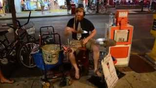 Awesome Street Drummer in Key West