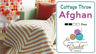 getlinkyoutube.com-How to Crochet An Afghan: Cottage Throw