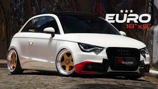 getlinkyoutube.com-FULL - Audi A1 bagged Accuair with Wheels Volcano Euro