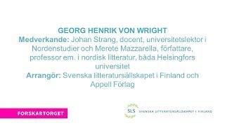 Forskartorget 2017 - Georg Henrik von Wright