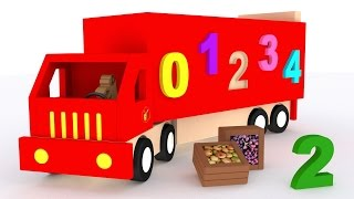 getlinkyoutube.com-Trucks for children kids. Learn numbers. Learn to count 1 to 10. Cartoon for babies