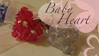 getlinkyoutube.com-MeiIris' Beading 3D Baby Heart