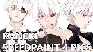 getlinkyoutube.com-Speed paint 10 - Kaneki ken[4PICS]
