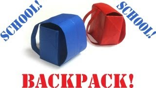 getlinkyoutube.com-Origami Daily - 399: (Back to School) Backpack - TCGames [HD]