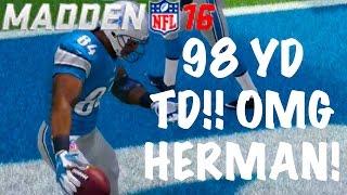 getlinkyoutube.com-98 YARD TD!! HERMAN MOORE IS GOAT! Madden 16 Draft Champions Gameplay! Ep. 5