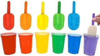 getlinkyoutube.com-Play Doh Popsicles Treats DIY Ice Cream Ultimate Rainbow Colors How To * RainbowLearning