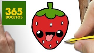 getlinkyoutube.com-COMO DIBUJAR FRESA KAWAII PASO A PASO - Dibujos kawaii faciles - How to draw a STRAWBERRY