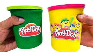 getlinkyoutube.com-DIY New Giant Play Doh Many Surprise Toys 4 Kids Californiametin