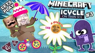 getlinkyoutube.com-Lets Play ICYCLE: ON THIN ICE w/ Minecraft! She Loves Me ... Not? (Crazy Naked Bike Guy Part 3)