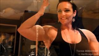 getlinkyoutube.com-Female Muscle Measure Biceps 01