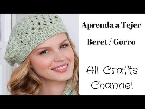 Gorro Beret en Crochet (En Español)