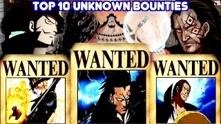 getlinkyoutube.com-One Piece - TOP 10 Highest Unknown Wanted/Bounties - Predictions/Theory HD