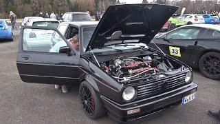 getlinkyoutube.com-Donkey Tec Volkswagen Golf 2 blow away Audi RS7, Corvette C7, BMW M5 & More!