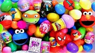 getlinkyoutube.com-151 SURPRISE EGGS! BubbleGuppies CookieMonster Pocoyo ELMO Disney Frozen Play-Doh Marvel Spiderman
