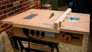 getlinkyoutube.com-Homemade table saw with built in router and inverted jigsaw 3 in 1