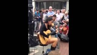 getlinkyoutube.com-Amazing Guitar Talent | Street Musician Girl