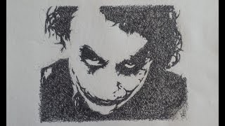 getlinkyoutube.com-Joker (Batman) scribble speed drawing